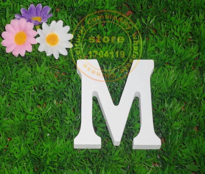8cm wedding decoration wood letters pure white wooden letters WOOD letters Home decoration Birthday Gift(China (Mainland))