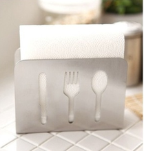 Modern Style Stainless Steel Towel Rack Napkin Box Tissue Holder Home Decor(China (Mainland))