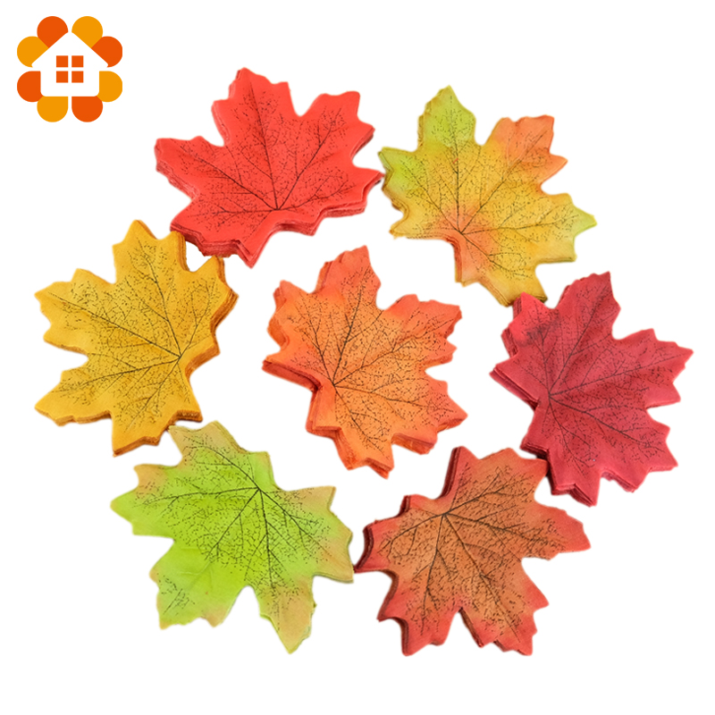 Hot Sale 50Pcs/lot Artifical Maple Leaves Fake Autumn Fall Leaf Wedding Party Decoration Craft Art Home Bedroom Wall Book Decor(China (Mainland))