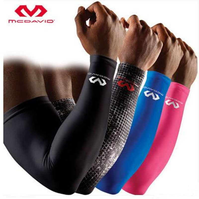100% Top Mcdavid Basketball Barcer Bar Lengthen Armguards Sunscreen Sports Protective Forearm Elbow Pad Sleeve Arm Warmers(China (Mainland))