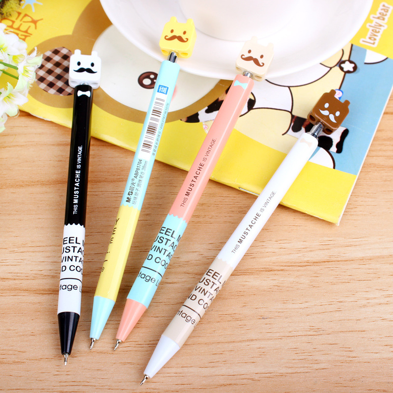 0 38mm Blue Cute Kawaii Ballpoint Pen For Writing School Supplies Office Accessories Stationary For Kids