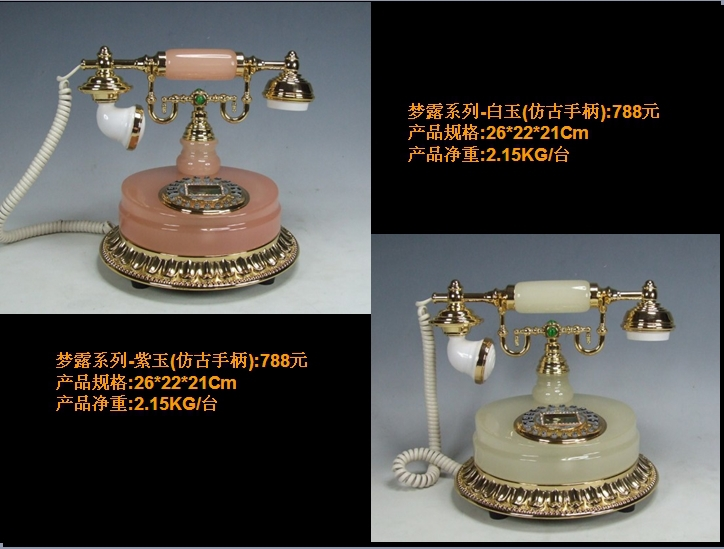 European high grade jade antique telephones telephones telephones living room den dedicated telephone