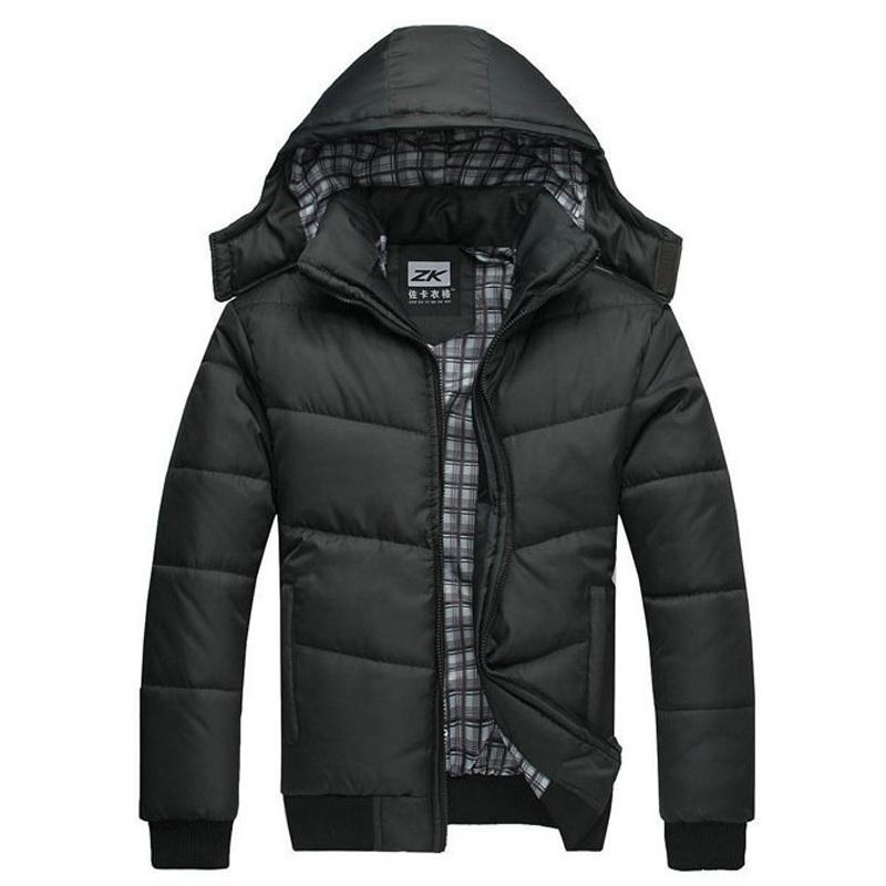 Winter Coat Men black puffe Cotton padded down jacket warm fashion male overcoat parka outwear hooded