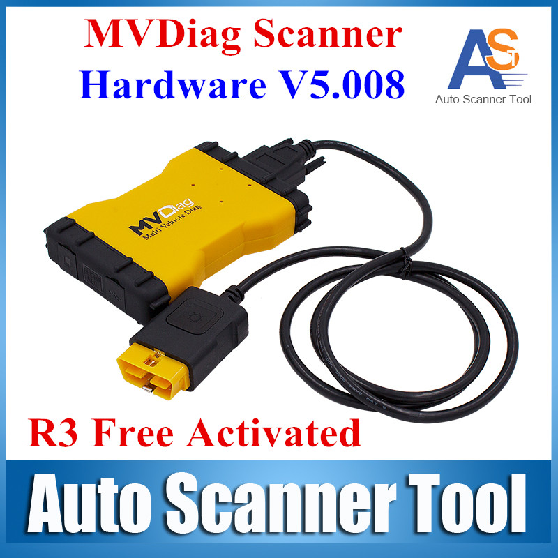 2016 Newest Brand MVD New VCI LED 3 IN1 Multi Vehicle Diag Car or Truck Diagnostic Tool V5.008 R3 Free Actiave(China (Mainland))