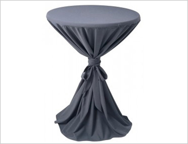 black 100% polyester cocktail table cloths(China (Mainland))