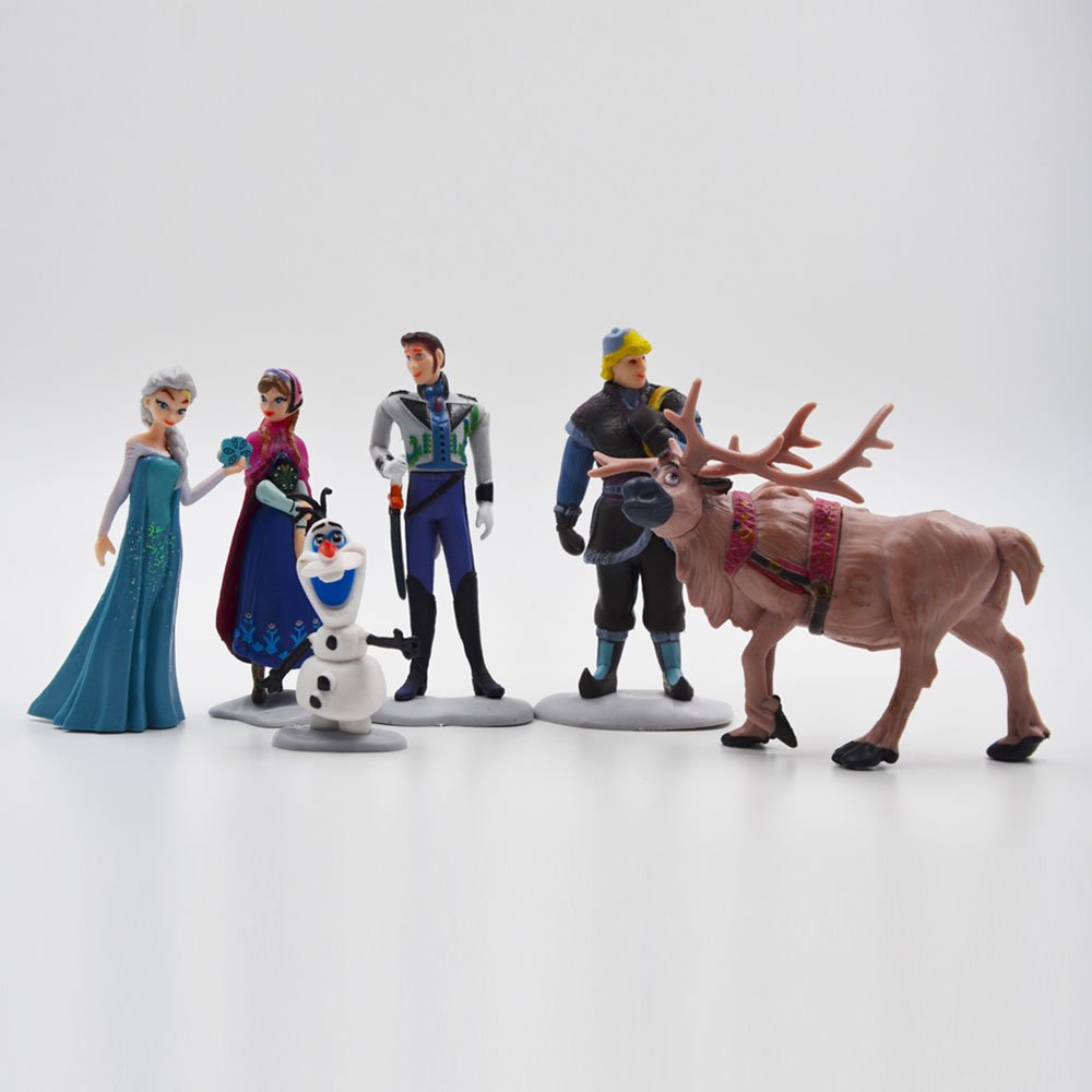 Disney Frozen Top Selling Toys Plastic Action Figures Frozen Cartoon Toys Anime Toys Figures 6 Pcs Brinquedos Ty062(China (Mainland))