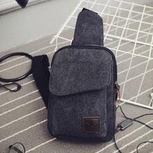 Brand NEW Unisex Canvas Chest Backpack Hiking Sport Crossbody Backpack Black Color Shoulder Bag Women Men