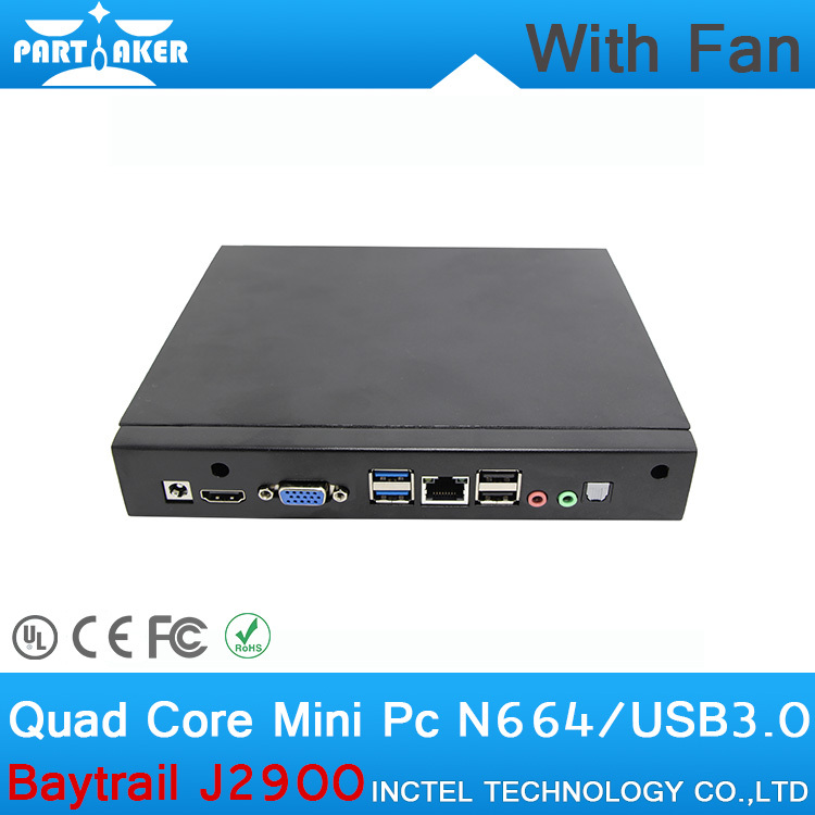 8G RAM 64G SSD Cheap quad core linux mini pc small computer with Intel Pentium Baytrail J2900 Quad core 2.4GHz mini pc with fan(China (Mainland))