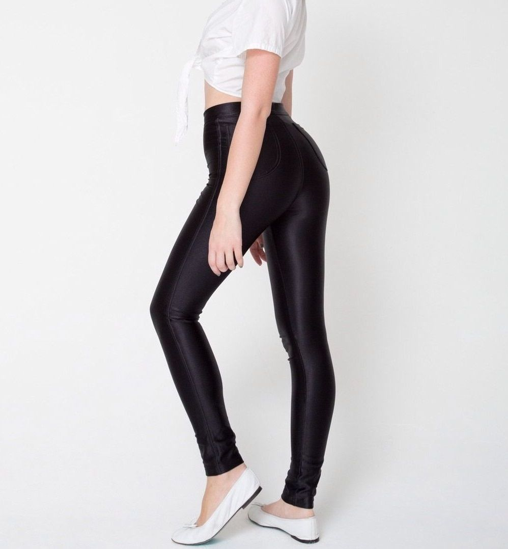 Cheap Shiny Disco Pants Disco Pants Black Shiny