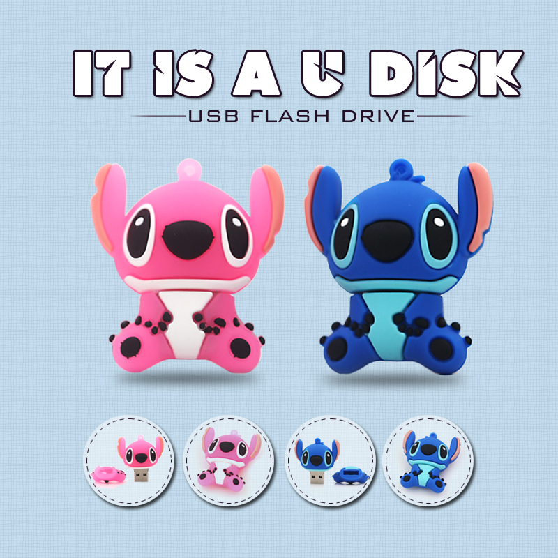 Cartoon Stitch note USB Flash Drive High Speed USB2.0 PenDrive Creative Pen Drive Gift USB Memory Stick 32GB 16GB 8GB 4GB(China (Mainland))