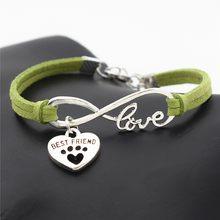 Suteyi moda feminina pulseira de couro antigo banhado a prata animais de estimação cães amante gato animal urso pata encantos pingente pulseiras presente(China)