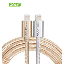 Golf USB Cable 1M 1.5M 2M 3M Aluminum Nylon 8-pin Sync Charging Data Transfer Cord Wire For apple iphone 5 5c 5s 6 6 plus USB(China (Mainland))