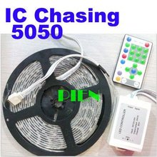Buy IC Magic 5050 chasing led strip dream color 5M tiras tape fita waterproof 12V 81 program +RF controller CE&ROHS DHL 20set for $720.00 in AliExpress store