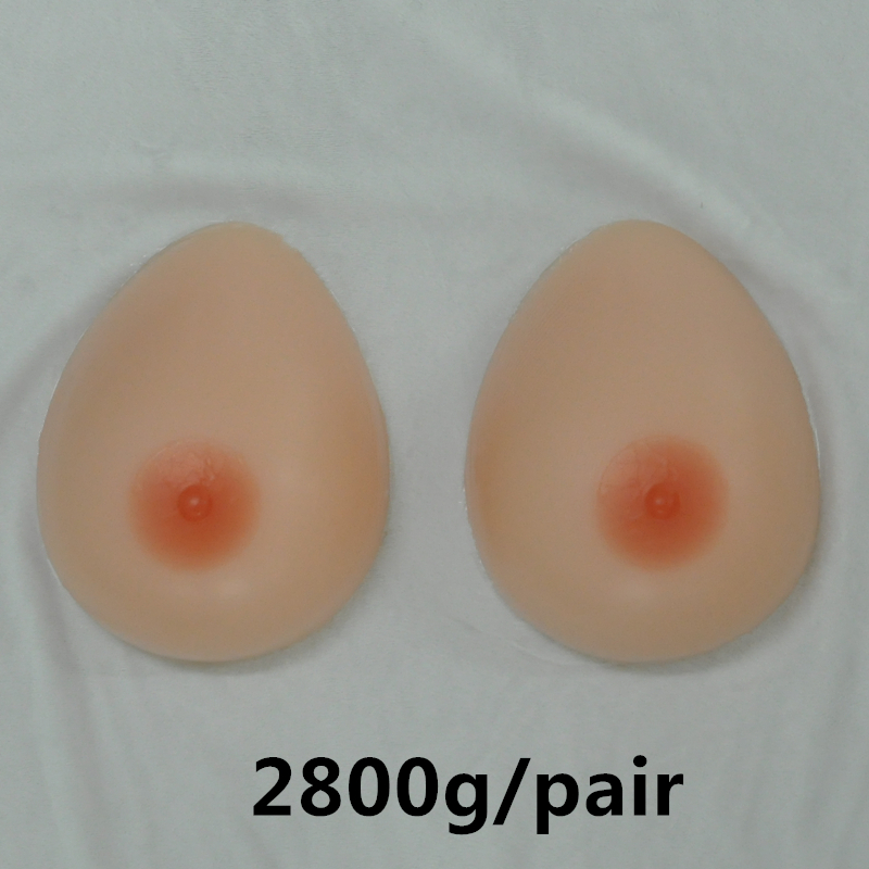 2800g/Pair Silicone Artificial False Fake Breast Boobs Forms For Transvestite Transgender Others Size A ~ K Cup