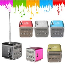 HOT! New High Quality Fashion Portable Micro USB Stereo Speaker FM Radio USB disk TF card  For iPad For iPhone For Samsung