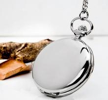 Classical 4.5cm Size Silver Polish Quartz Men Pocket Watch Necklace Relogio De Bolso Gift Quartz Watch(China (Mainland))