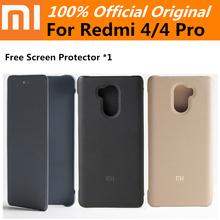 Buy 100% Original Xiaomi Leather Case Cover Flip case Xiaomi Redmi 4 pro prime Free screen protector for $6.50 in AliExpress store