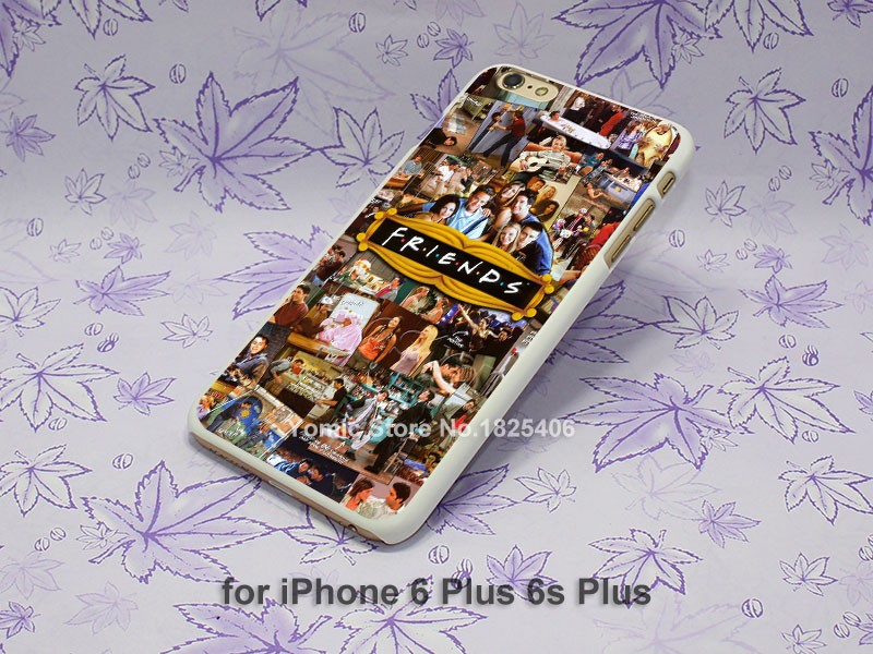 Friends TV show Collage Jennifer Aniston Design hard White Skin Case Cover for iPhone 4 4s 4g 5 5s 5c 6 6s 6 Plus