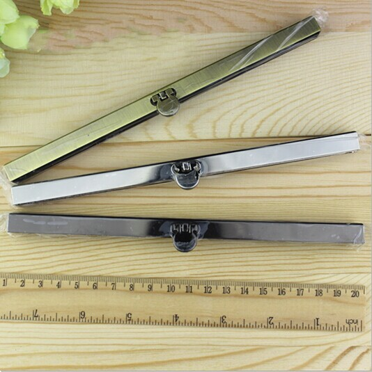 10pcs/lot 19cm Antique Bronze Gun Black Silver tone Metal Purse Frame purse Making Supplie for wallet bags accessory(China (Mainland))