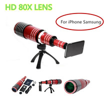 Buy 2017 New HD 80X Metal Telephoto Lentes Zoom Lens Telescope iPhone 4 4s 5 5s 6 6s 7 Plus Samsung Mobile Phone Camera Lenses for $255.99 in AliExpress store