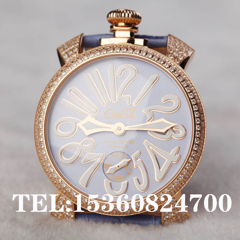 trend fashion watches gaga big dial watch manual mechanical inlaying diamond 351g 1 - Rabbit Queen hair store