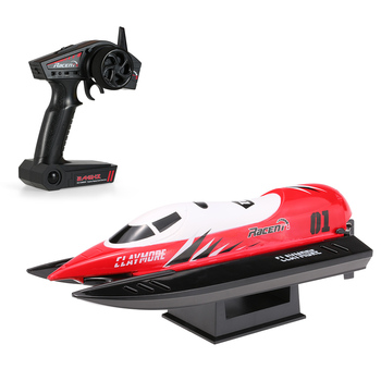 Original RC Racing Boat CLAYMORE V795-2 2.4GHz Brushed 25km/h High Speed Auto-roll-back Pool RTR Motor Boats ship toys for boys
