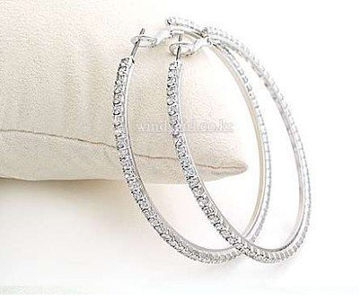 Free shipping!! Wholesale fashion jewelry & big circle hoop earrings & cz stones pave earrings