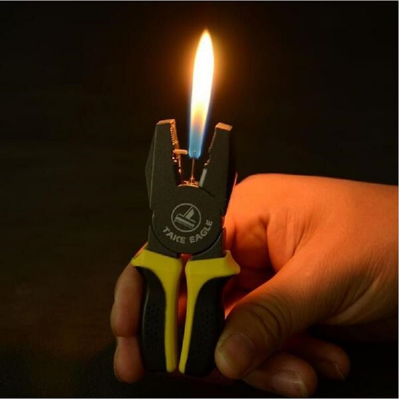 Hot Selling 1PCS Black Wire Cutters Design Light Jet Flame Windproof Cigarette Cigar Lighter New Free Shipping(China (Mainland))