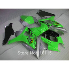 Customize motorcycle parts SUZUKI GSX-R1000 K7 K8 2007 2008 green silver black fairings set 07 08 GSXR 1000 fairing kit HQ78 - Welcome Shopping's store