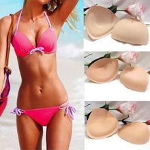 1 Pair Sponge Swimsuit Padding Inserts, Breast Enhancer To Bra, Push Up Breast Bikini Padding, Removeable Bra Pads for Women(China (Mainland))