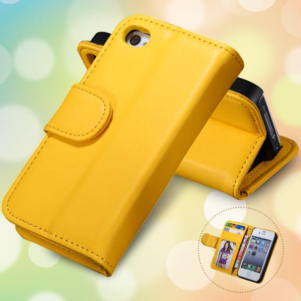 Hot! Fashion Wallet Cover With Photo Frame PU Leather Case For iphone 4 4G 4S 5G 5 5S Stand With Card Holder AAA02342(China (Mainland))