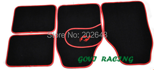 FM005 black Car floor mats with suede universal waterproof 4pcs front & rear pedals accesorios coche for mazda 3 opel mokka(China (Mainland))