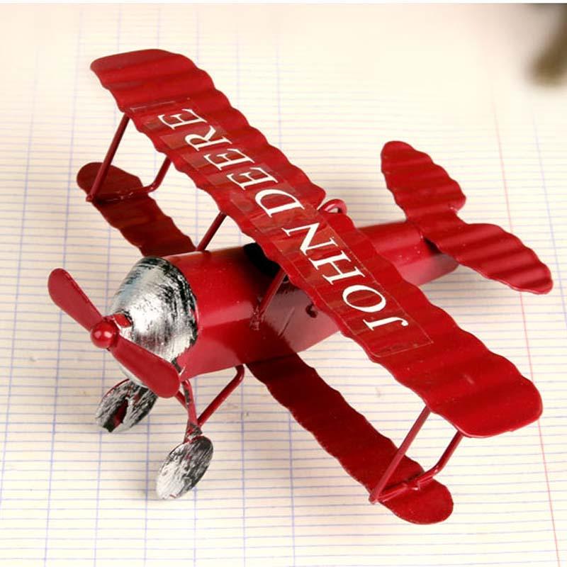 1 piece Vintage Metal Plane Model Iron Retro Aircraft Glider Biplane Aeromodelo Pendant Airplane Model Toy Collection Gift Deco(China (Mainland))