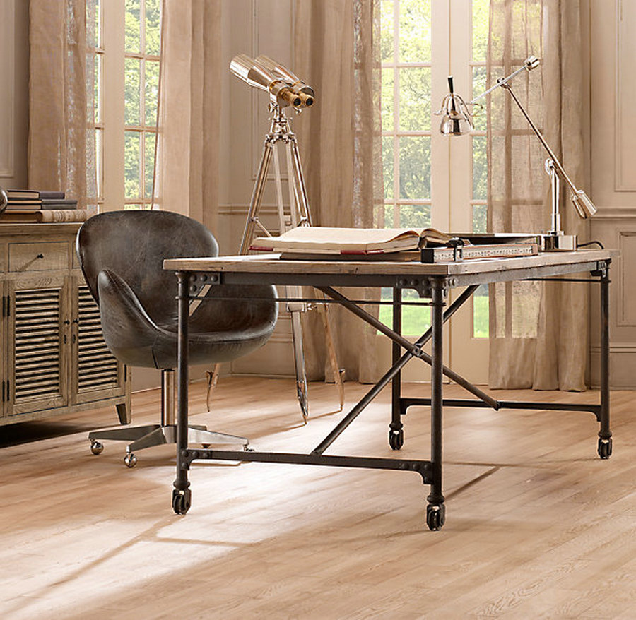 French export shipping industrial loft style wood - Loft style office furniture ...