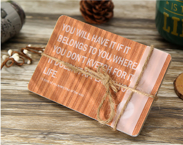 The Most Primitive Blessing Artistic Natural Veneer Material Greeting Card 10pcs Delicate Classical Retro Recycled Postcard Gift(China (Mainland))
