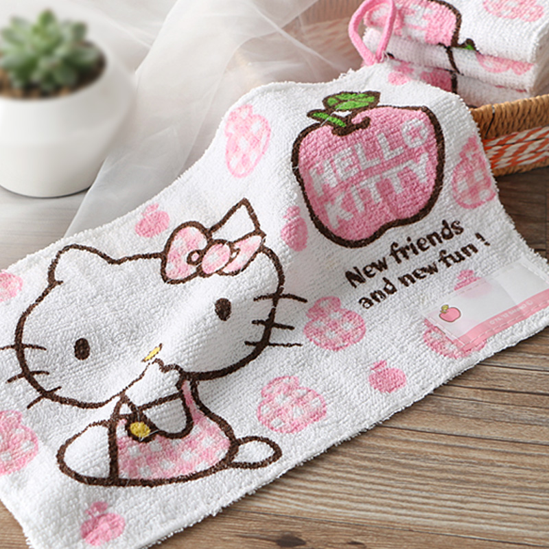 30*20cm Cute Kitty Cat Kids Cotton Face Hand Towel.Cartoon Small Towels.Wash Cloth.Dishcloth.Scouring pad For Kitchen Bathroom