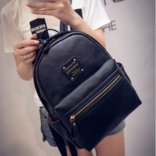 Fashion Women Backpack Bag 2016 PU Leather Women Backpack Designers Brand for Teenage Girl  High Quality Travel Books Rucksack(China (Mainland))