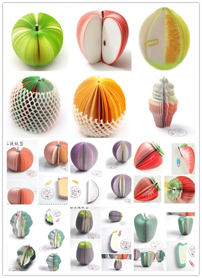 16pcs/lot Mixed Office Paper Product Wholesale Creative Fruit Notepad Paper Note Memo(China (Mainland))