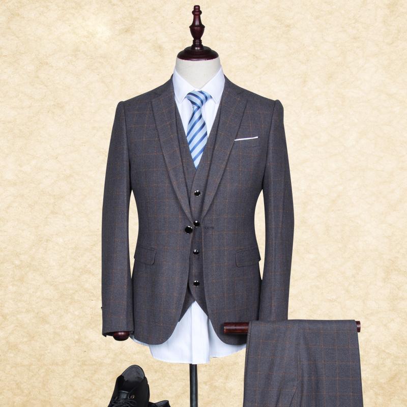 2015 High Quality Blazer Men Wedding Suits 3pieces( Jacket