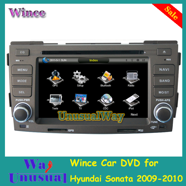 Free Shipping Professional Wince Car Entertainment System Multimedia DVD Player For Hyundai Sonata 2009-2010 With GPS Free Map(China (Mainland))