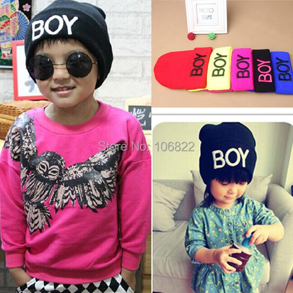 WholesaleToddler Baby Girls Boys Knitted Woolen Skull Hats BOY Beanie Caps Ski HatsFreeShipping(China (Mainland))