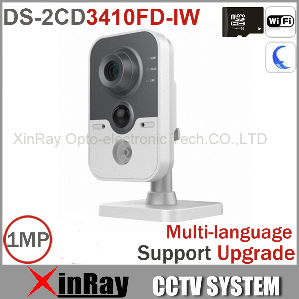 Mini Wireless IP Camera DS-2CD3410FD-IW 720P Built in Microphone and Speaker, Two Way talk IR IP Camera Support Russia Sending(China (Mainland))