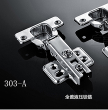 2pcs full overlay satin nickel kitchen cabinet door hinges gate hinge without damper(China (Mainland))