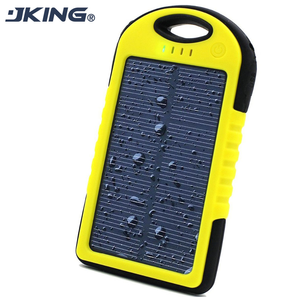 Dual-USB Drop resistance portable Charger Waterproof Solar charger 5000mah ravel External Battery For smartphone(China (Mainland))