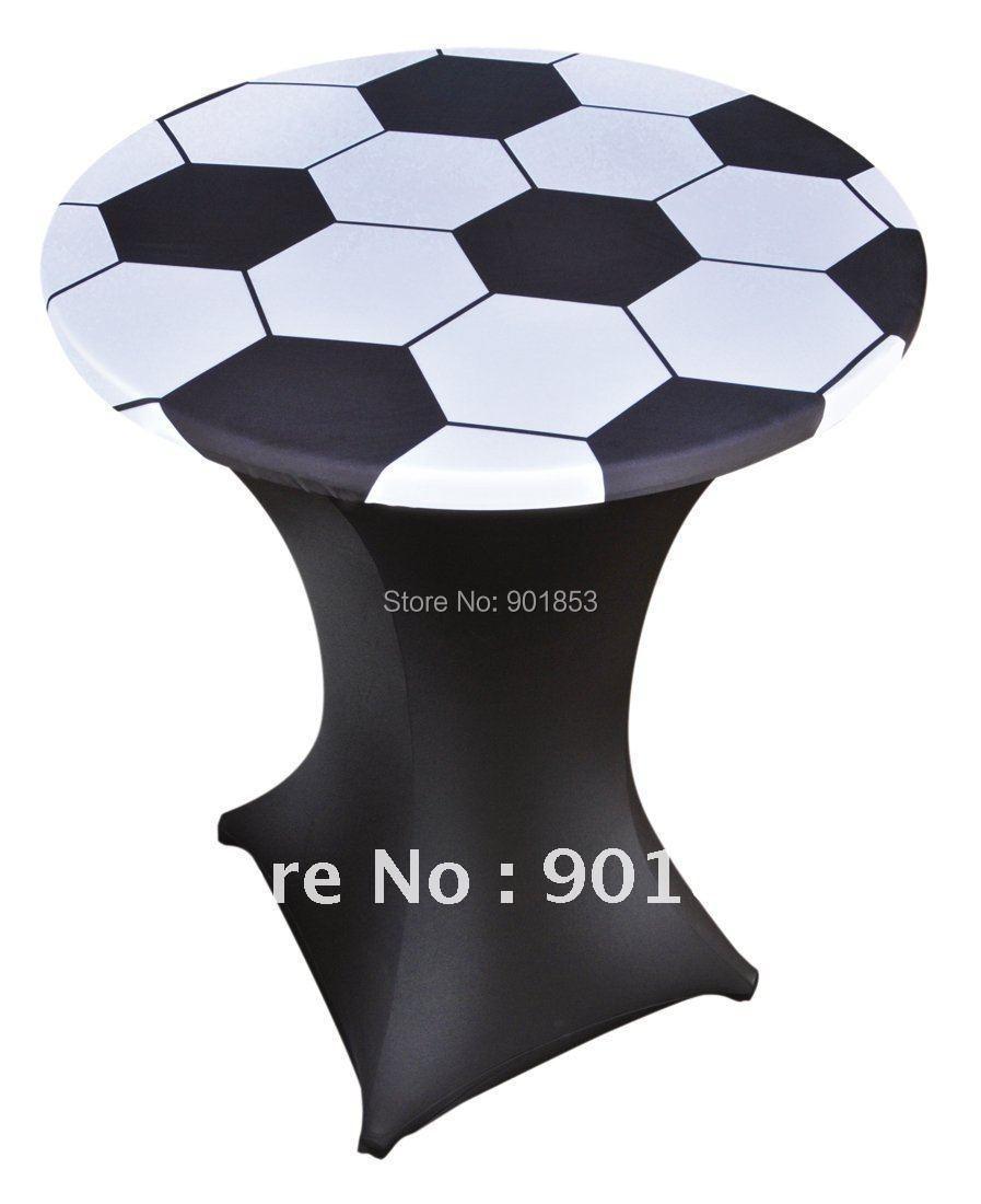 80cm round football logo lycra spandex table topper(China (Mainland))
