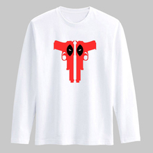Deadpool Gun 3xl Cotton T Shirt Men Funny Dead Pool TShirt Men Long Sleeve Autumn New Fashion in Long Sleeve Cotton Tee Shirt