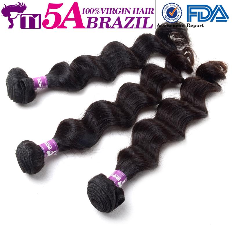 T1 5A New Brazilian Loose Wave Virgin Hair Brazilian Virgin Hair Unprocessed Virgin Brazilian Hair Sunlight Cheap Human Hair(China (Mainland))