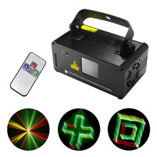 New 3D Effect 8 CH DMX 512 Mini IR Remote 250mW RGY Laser DPSS Scanner Lights DJ Show LED Projector Stage Lighting TDM-RGY250(China (Mainland))