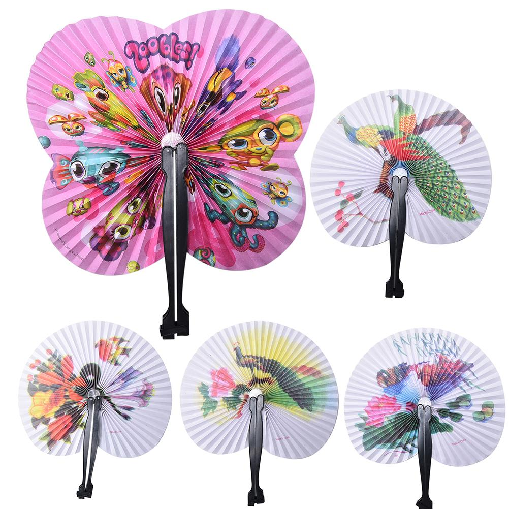 3PCS Paper Fan New Holiday Sale Paper Hand Fan Folding Wedding Party Supplies Colorful Wedding Decoration(China (Mainland))