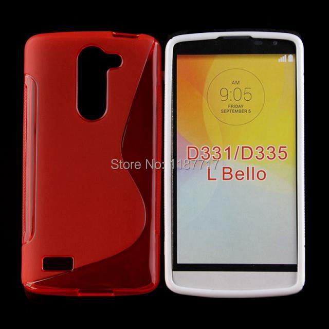 10pcs/lot free shipping Soft TPU Gel S line TPU Cover Case For LG L Bello D331/D335(China (Mainland))
